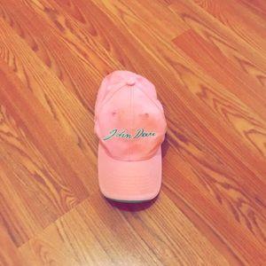 Pink John Deere ball cap